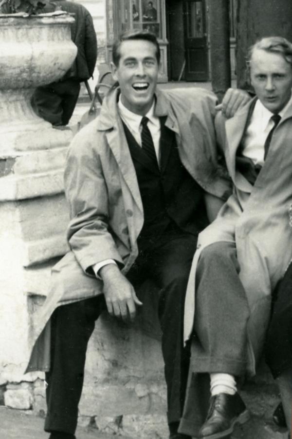 Чак Нефф и Денис Мицкевич. Москва, 1958. Из архива Ч.Неффа.