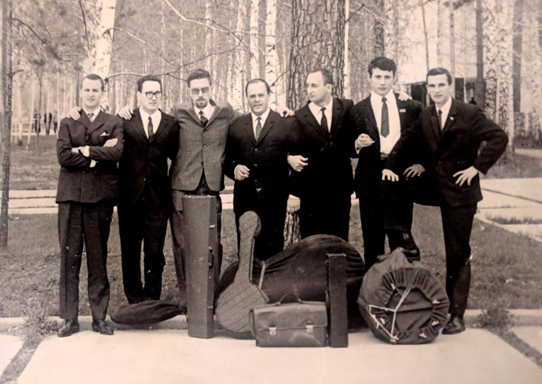 Диксиленд Грачева в Новосибирском Академгородке, 1969