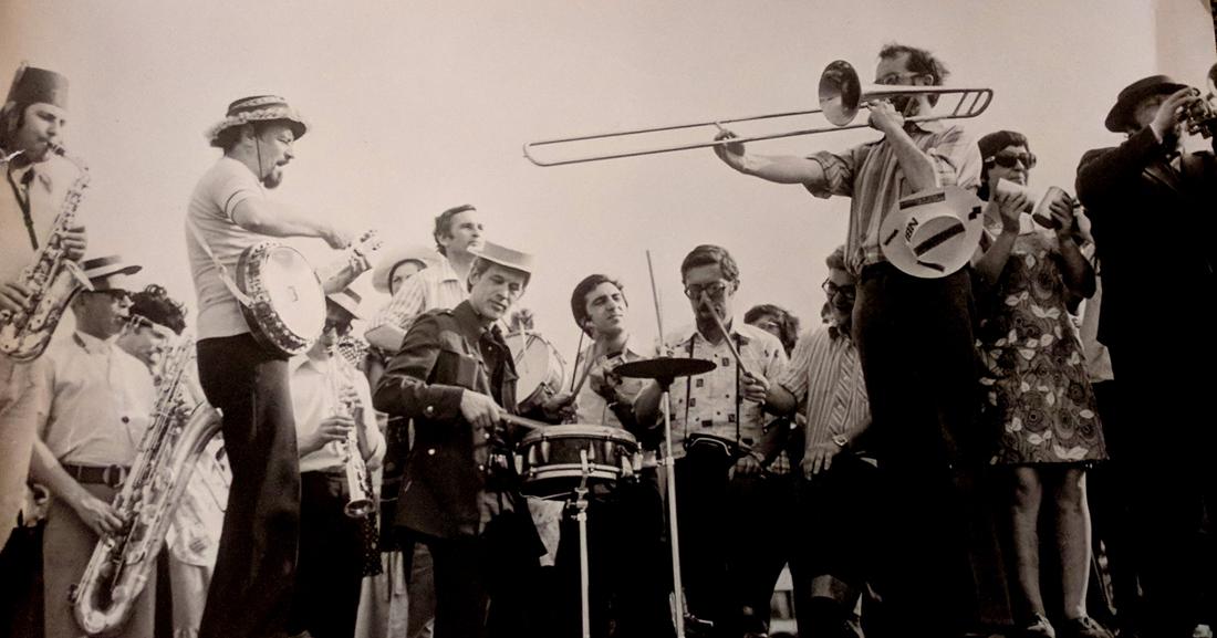 Концерт на площади. Пущино, 1979