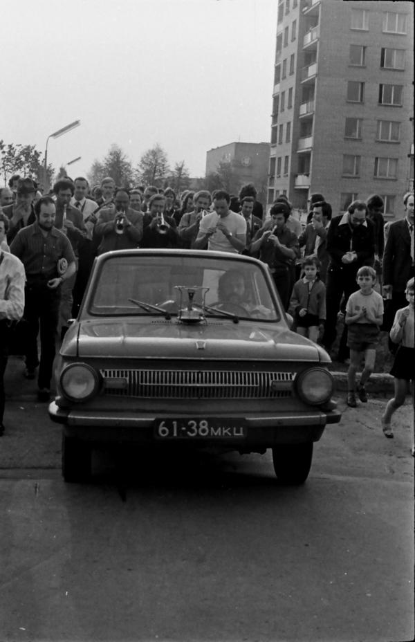 Парад диксилендов и Алексей Баташев. Пущино, 1975