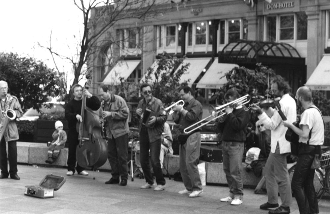 На соборной площади. Кёльн, Германия, 1992