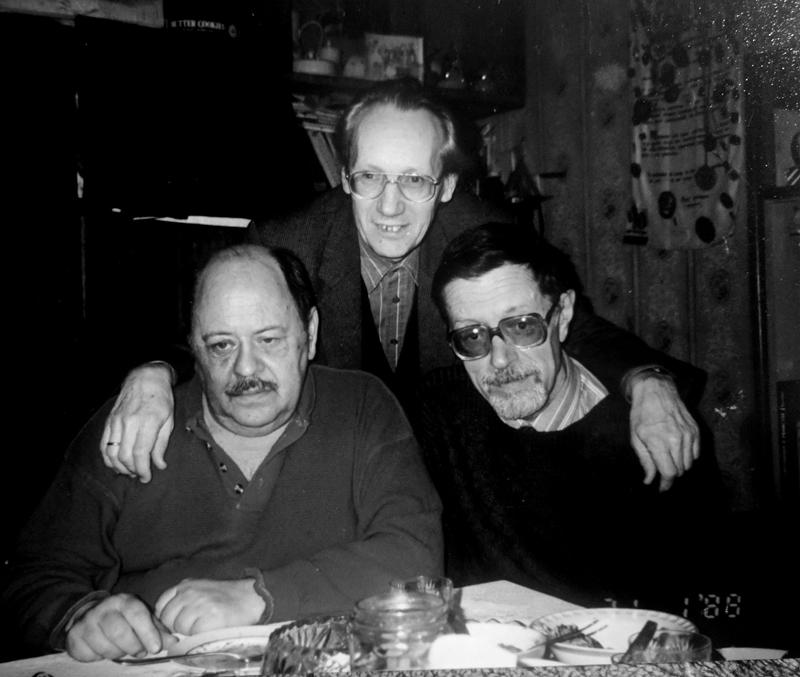 Владислав Грачев, Михаил Царёв, Михаил Кулль. Последняя встреча. Москва, 1999