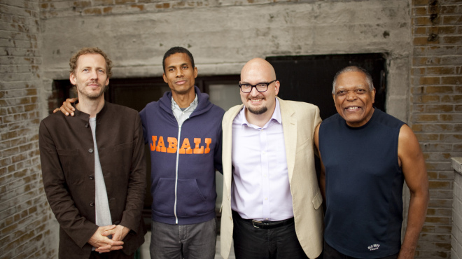 Billy Hart Quartet: Ben Street, Mark Turner, Ethan Iverson, Billy Hart (photo © John Rogers)