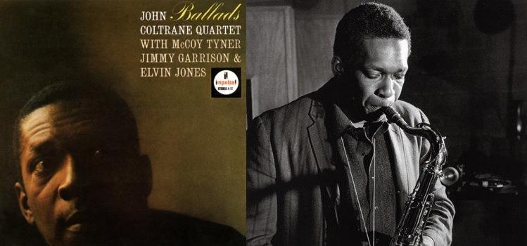 Обложка альбома «Ballads» и Джон Колтрейн в студии Руди Ван Гелдера в Нью-Джерси (фото: Джим Маршалл, 1962)
