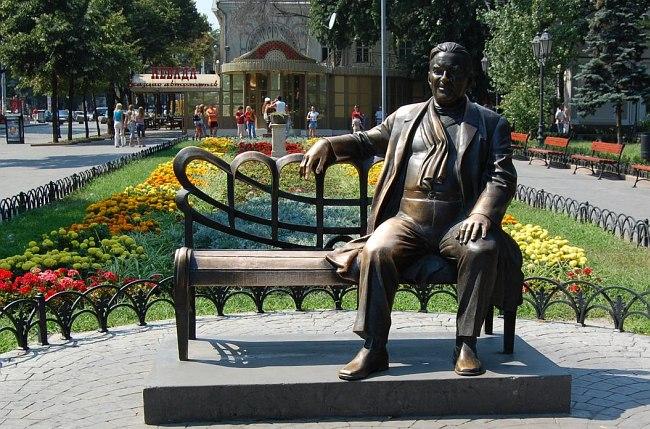 Памятник Л.О.Утёсову в одесском Горсаду