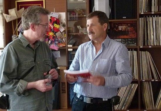 Лэрри Эппелбаум и директор Ярославского джазового центра Игорь Гаврилов