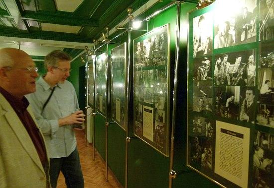 """Давид Голощёкин и Ларри Эппелбаум в """"Музее петербургского джаза"""" в Джазовой Филармонии"""
