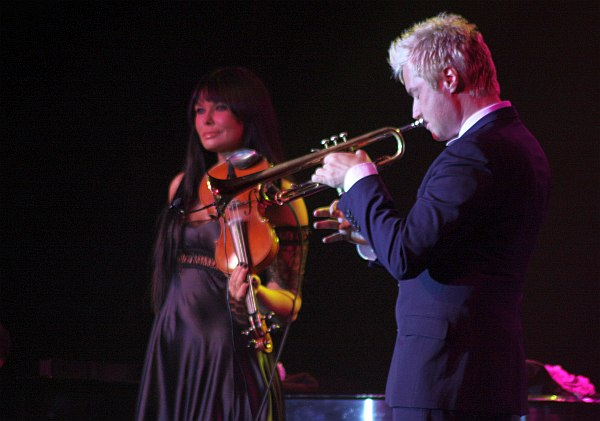 Ассия Асхат и Крис Ботти в клубе Blue Note