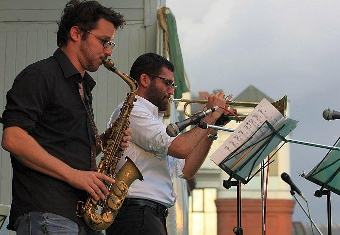 Itamar Borochov Quartet на сцене сада Эрмитаж (фото: Анна Филипьева)