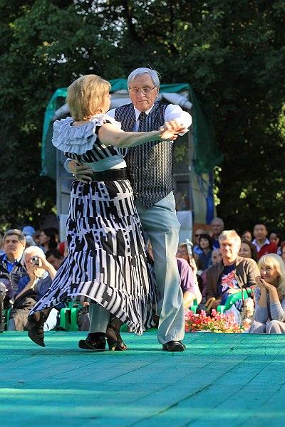 Талисман фестиваля - пара танцоров