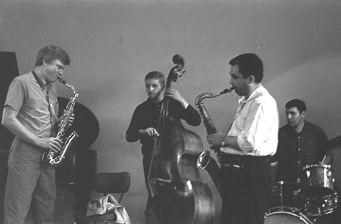 Gerry Mulligan with KM Quartet, Moscow, 1967 (photo by Vladimir Sadkovkin)