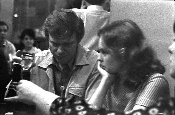 Gerry Mulligan, Sandy Dennis, Moscow, 1967 (photo by Vladimir Sadkovkin)