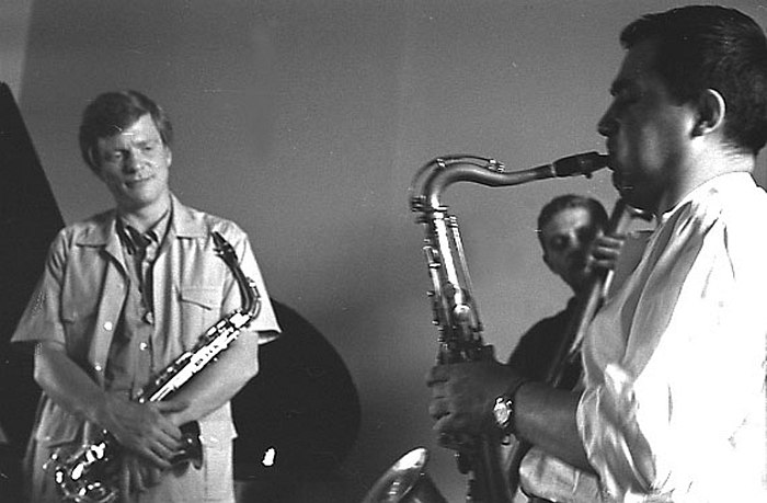 Gerry Mulligan, Vladimir Sermakashev, Moscow, 1967 (photo by Vladimir Sadkovkin)