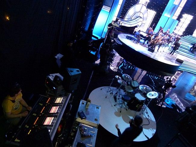 За кадром программы «Большой джаз»: звукорежиссерская зона