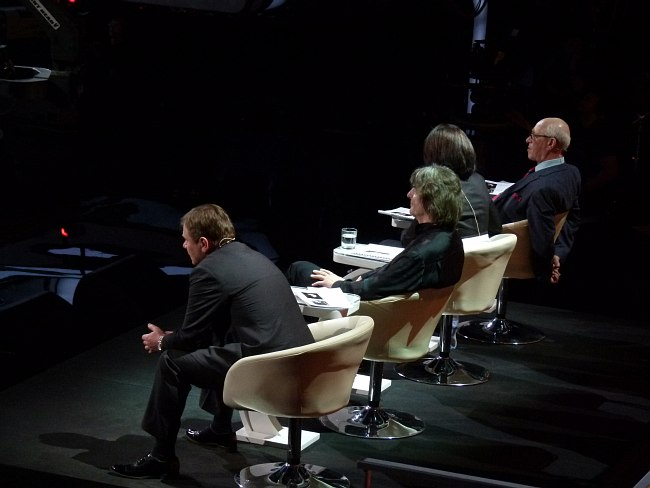 Жюри третьего этапа: Игорь Бутман, Аркадий Шилклопер, Ольга Ростропович, Давид Голощёкин