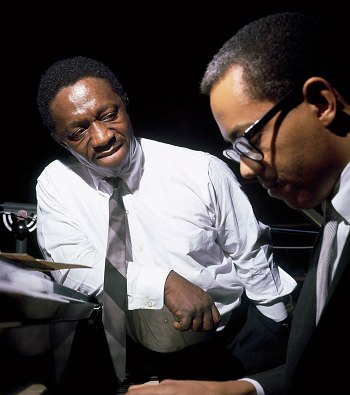 Art Blakey, Cedar Walton, 1964 (photo © Francis Wolff)