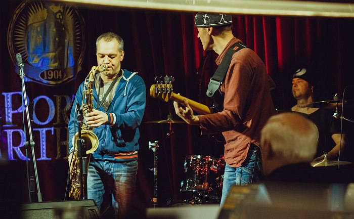 Алексей Попов, Андрей Светлов, Анатолий Смирнов (на переднем плане автор - Владимир Фейертаг)