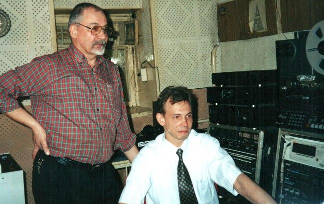 Геннадий Лебедев с сыном Максимом
