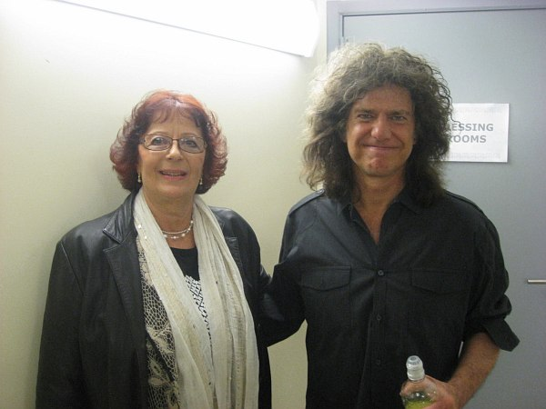 Анне Эрм и хэдлайнер фестиваля 2014 года - Пэт Мэтини (фото со страницы Jazzkaar на Facebook)