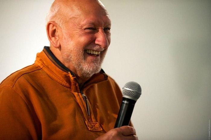 Лео Фейгин во время встречи со слушателями