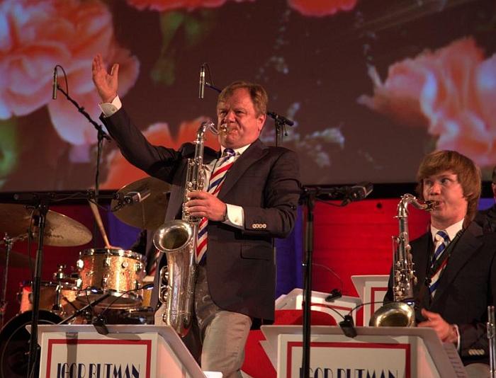 Игорь Бутман и Московский джазовый оркестр на сцене ЮНЕСКО