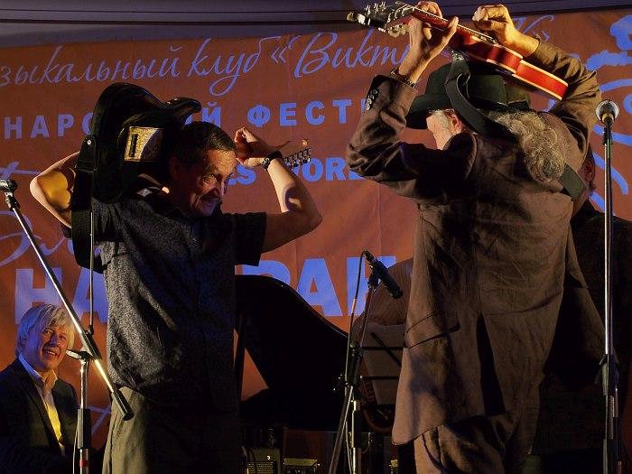Тим Дорофеев и Виктор Колесов, финальный джем фестиваля