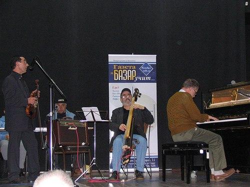 Фестиваль «Играют ветераны джаза». Борис Савчук, Яков Айзенберг, Гдалий Левин, Михаил Кулль. Ришон-Лецион, 2006