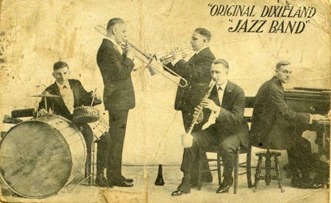1918, рекламная открытка Original Dixieland Jazz Band