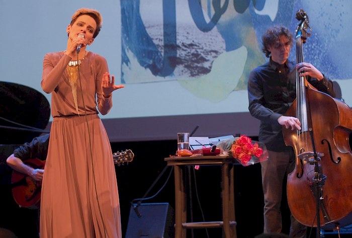 Алина Ростоцкая, Антон Ревнюк, презентация альбома «Flow» (апрель 2016). Фото © Кирилл Мошков, «Джаз.Ру»