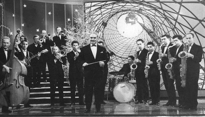 Оркестр Олега Лундстрема в студии первого московского телецентра на Шаболовке, 1965