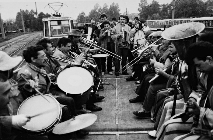 «Джазовый трамвай», Витебск, 1985. Второй слева Сергей Мелещенко