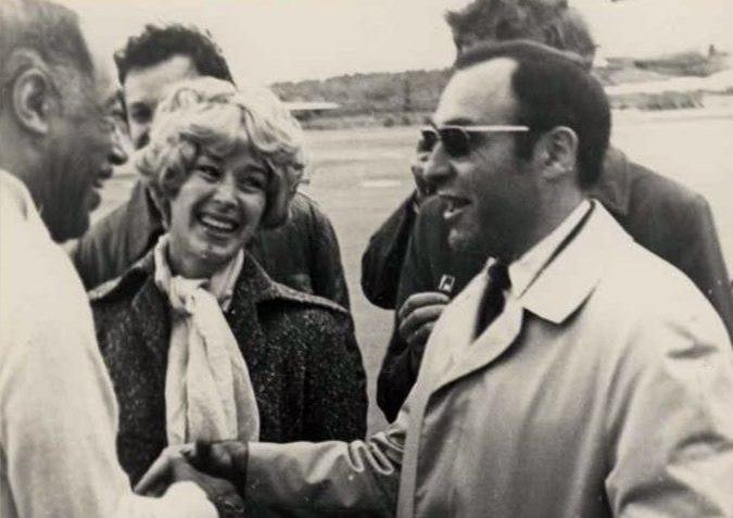 Ефим Барбан (справа) и Дюк Эллингтон (слева) в ленинградском аэропорту Пулково, 1971