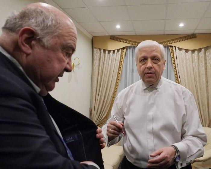 Рубин Абдуллин и Борис Фрумкин за кулисами