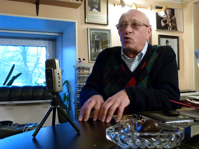 Интервью в кабинете Д.С.Голощёкина в Джазовой филармонии