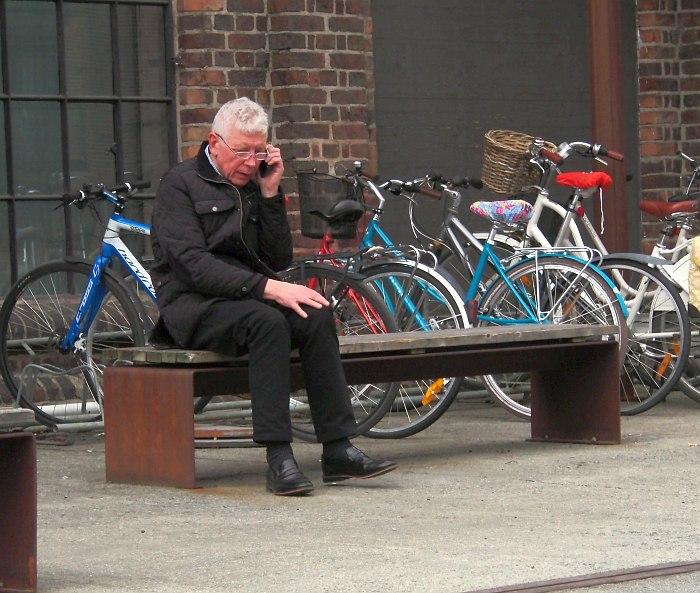 Ян-Эрик Конгсхауг на улицах своего родного города Тронхейма, май 2016 (фото © Кирилл Мошков, «Джаз.Ру»)