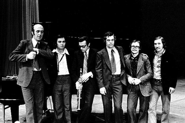 Ансамбль «Каданс», Герман Лукьянов третий справа, 1978 (фото: Владимир Лучин)