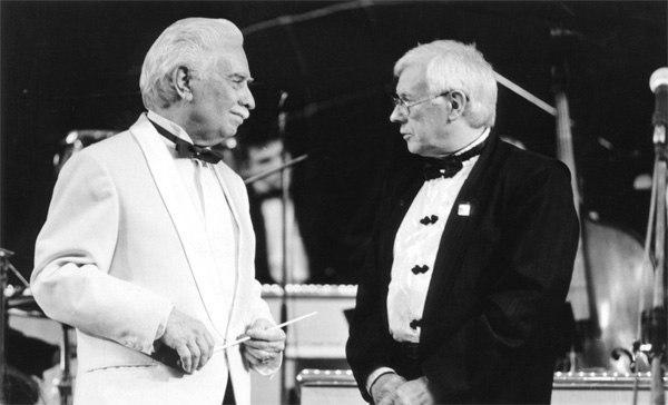 Олег Лундстрем и Юрий Саульский (фото конца 1990-х)
