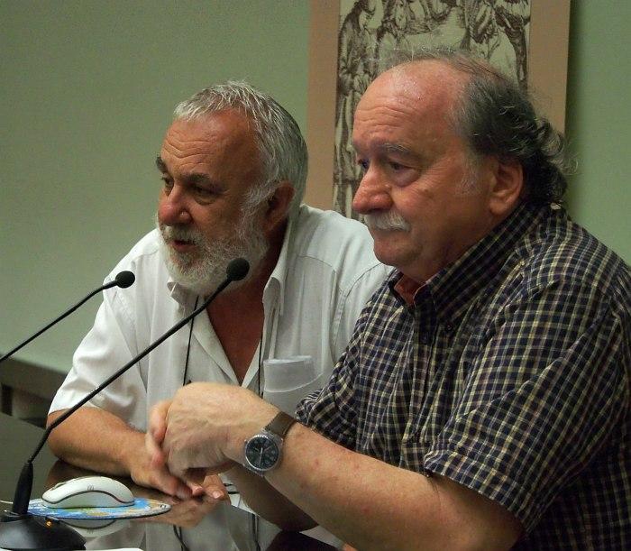 Франческо Мартинелли и руководитель фонда «Сиена Джаз» Франко Карони
