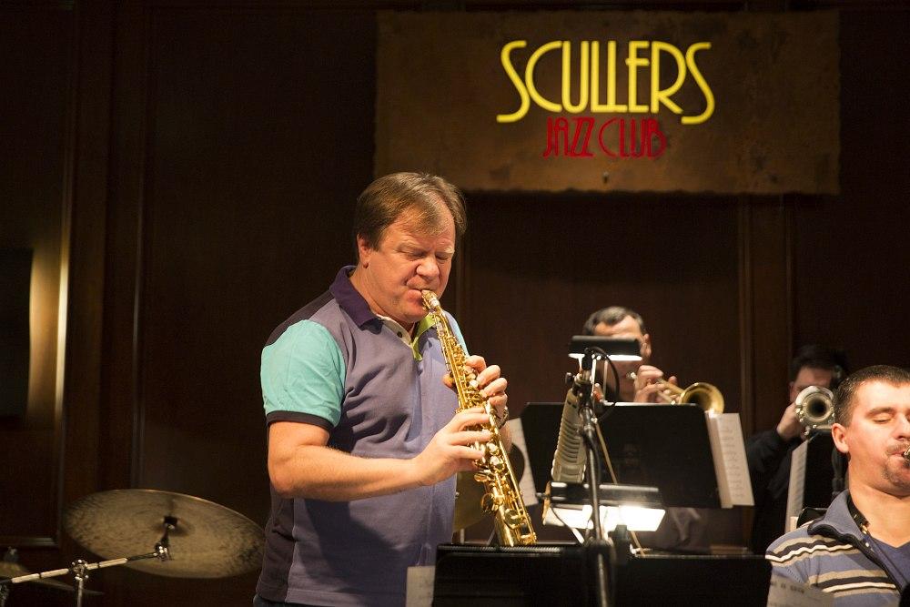 Игорь Бутман и его оркестр на сцене Scullers, Бостон, январь 2014