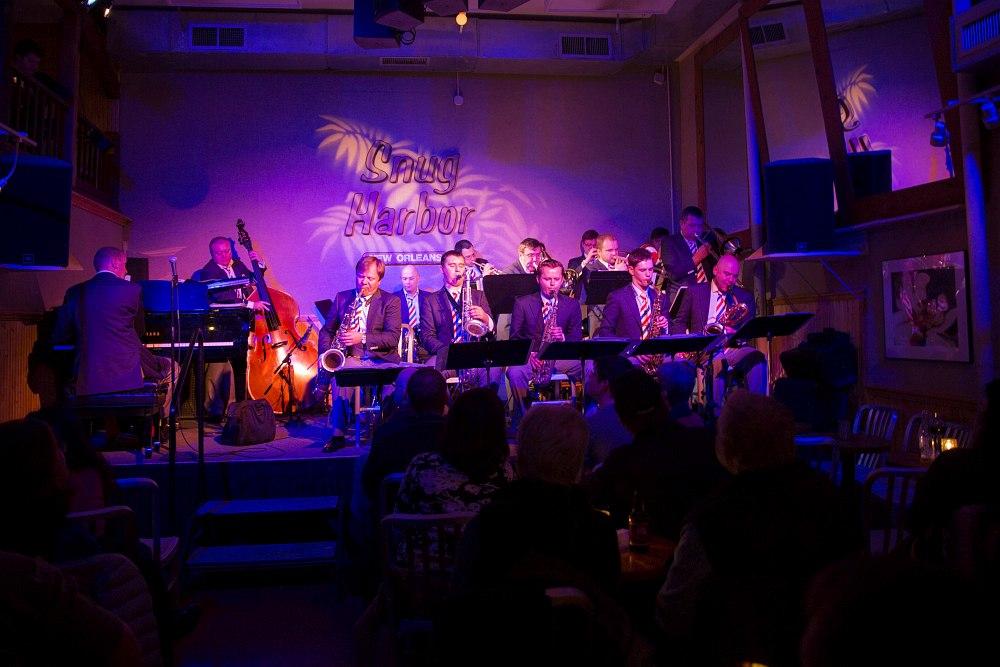 Московский джазовый оркестр на сцене Snug Harbor, Нью-Орлеан, январь 2014