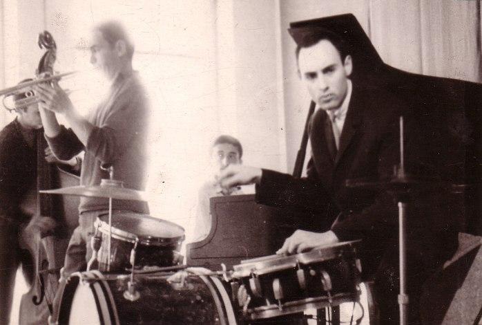 Один из первых ансамблей Вячеслава Ганелина (с Александром Мельником), 1960-е, Вильнюс