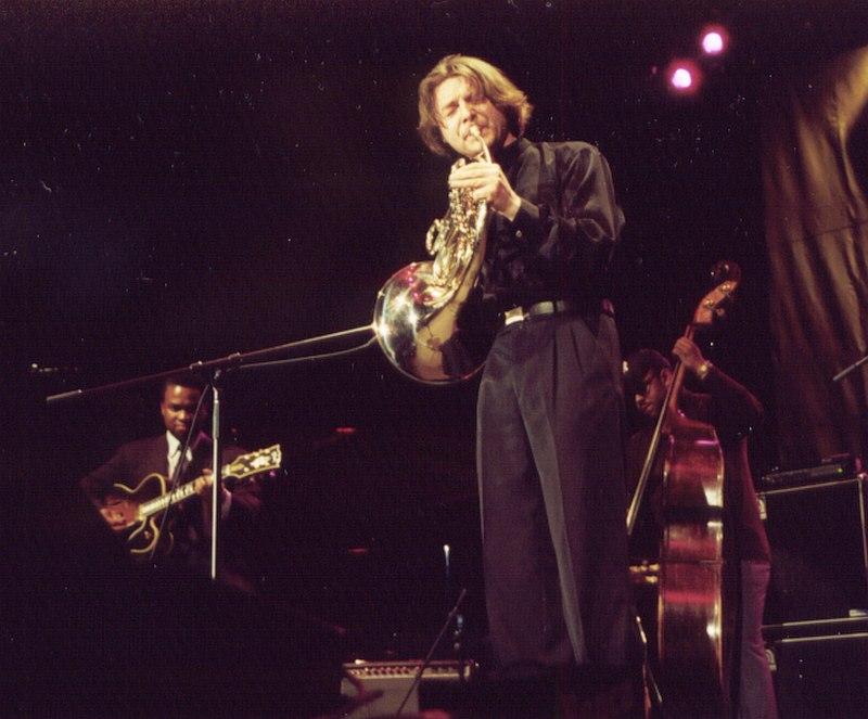 На Джаз-фестивале Лайонела Хэмптона, США, 2001, с Расселом Малоуном и Крисченом Макбрайдом (фото © Кирилл Мошков, «Джаз.Ру»)