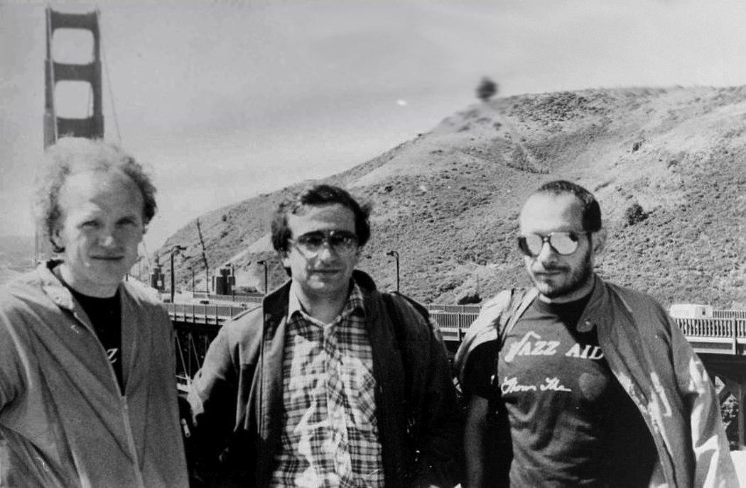 Трио Ганелина в Сан-Франциско, 1986: Владимир Тарасов, Вячеслав Ганелин, Владимир Чекасин (фото из архива В. Чекасина)