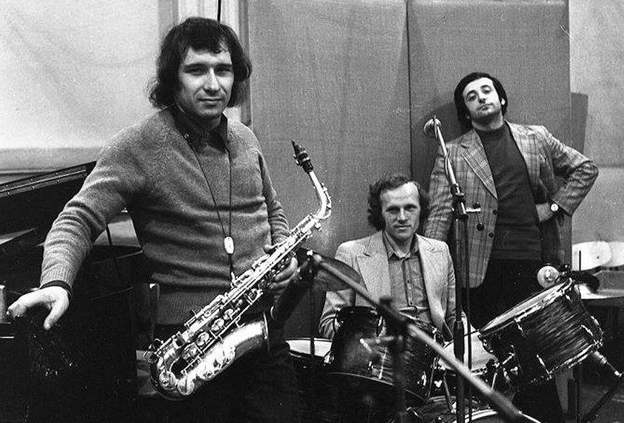 Владимир Чекасин, Владимир Тарасов, Вячеслав Ганелин, середина 1970-х (фото © Григорий Талас)