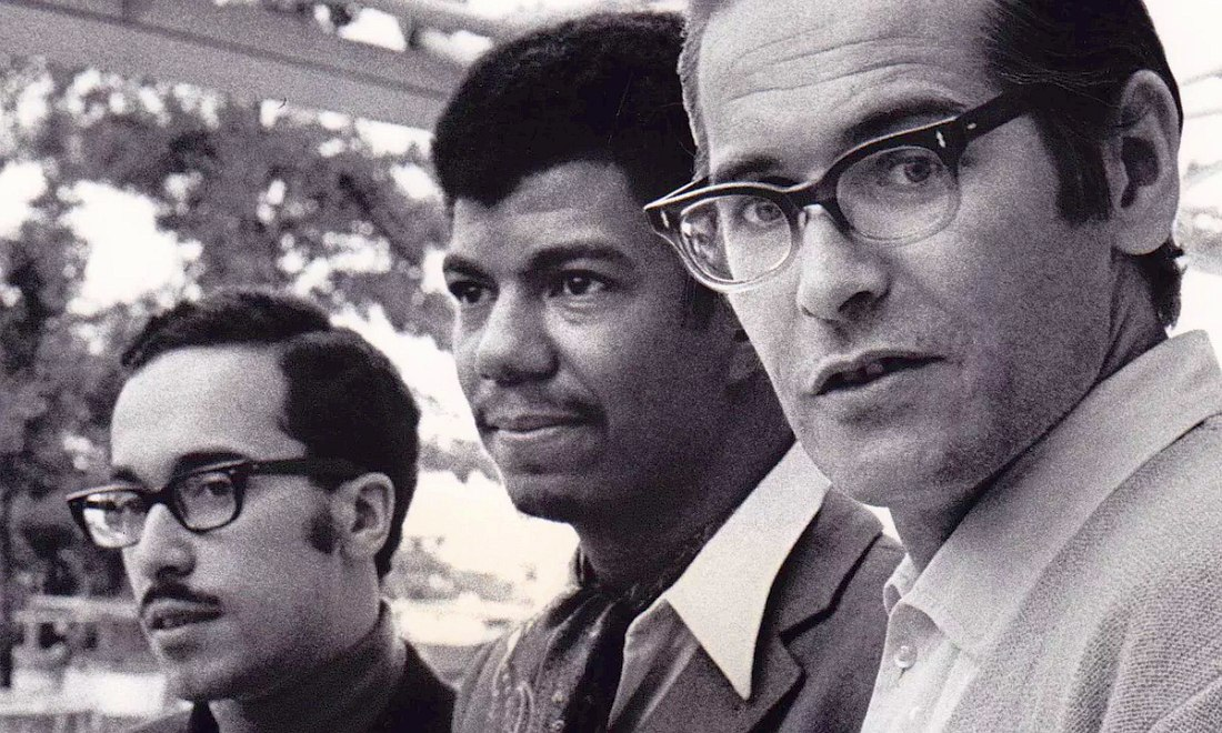 Bill Evans Trio: Eddie Gomez, Jack DeJohnette, Bill Evans, 1968 (photo © Giuseppe Pino/Resonance Records)