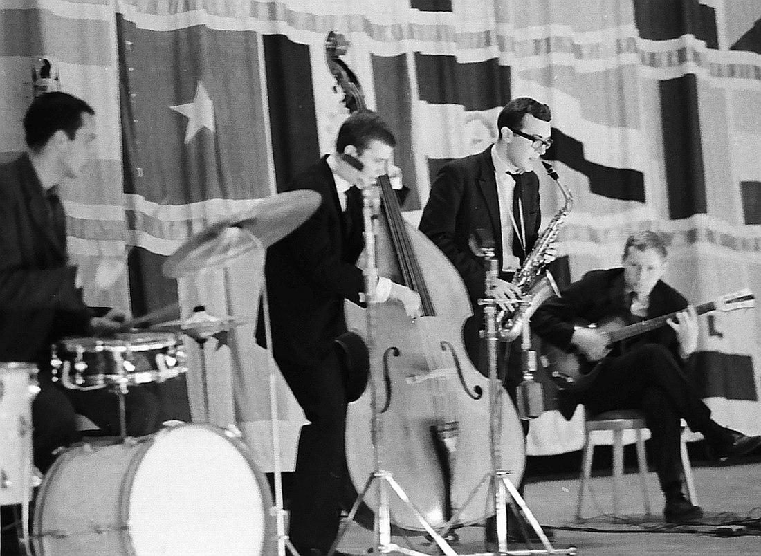Квартет Николай Громина на сцене Московского джаз-фестиваля 1965 г. (фото © Михаил Кулль)
