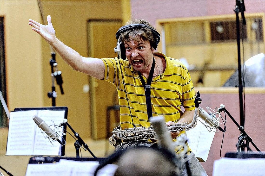 Алексей Круглов на записи альбома «Крупным планом»