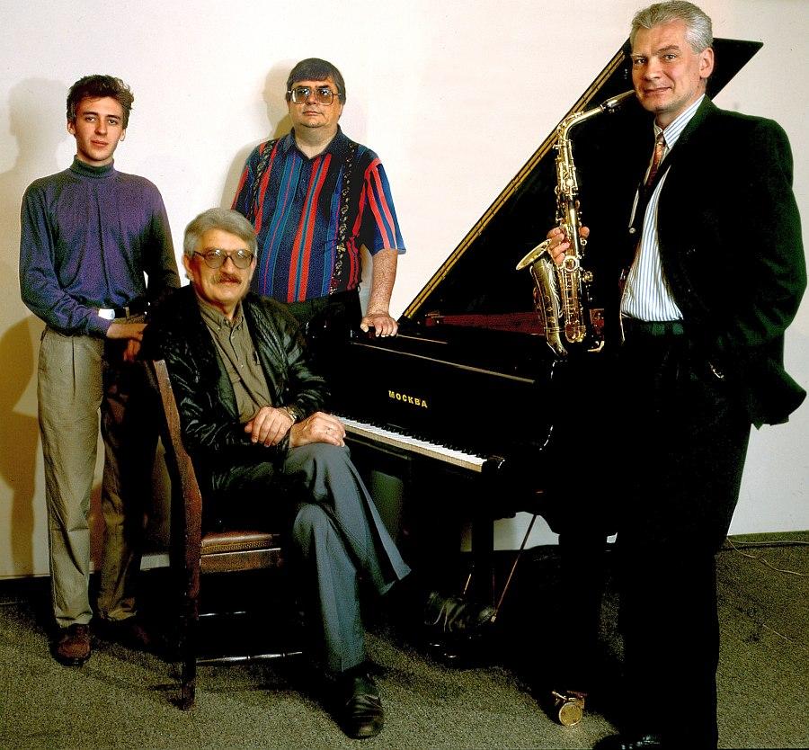 Квартет Юрия Маркина, 1996: Дмитрий Власенко, Юрий Маркин, Анатолий Соболев, Сергей Резанцев