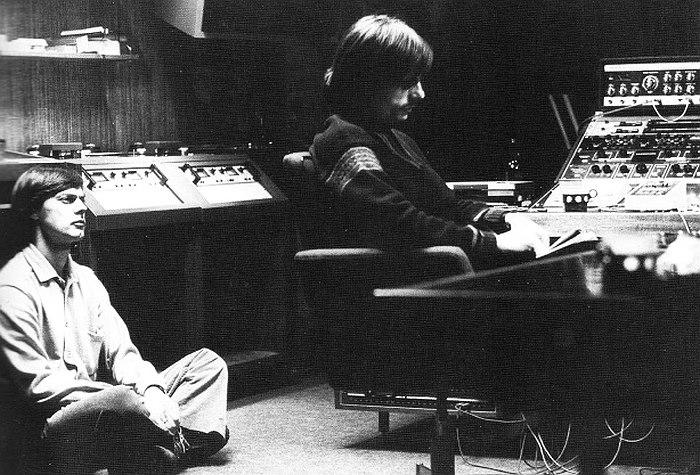 Ян Гарбарек и Манфред Айхер в студии Talent, Осло (1970-е гг.)