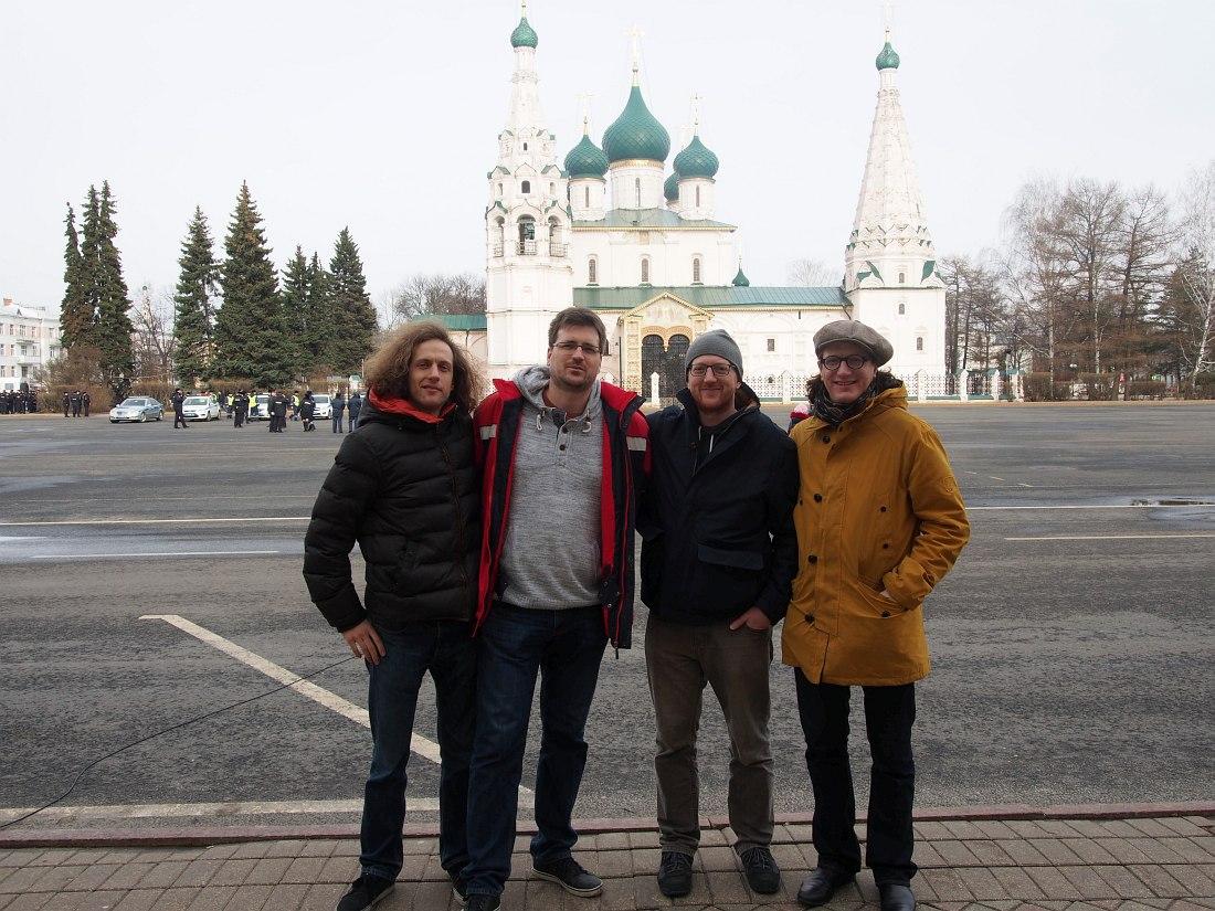 Ferenc und Magnus Mehl Quartet на центральной площади Ярославля